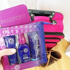 Bags are packed.  Don't forget: Your fave #Itsa10 products are available in travel sizes to keep your hair looking flawless while jet setting.  #travelgram #10travels #Itsa10