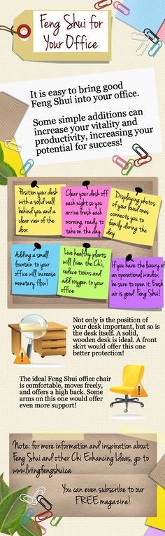 Some quick Feng Shui tips for the office. #FengShui