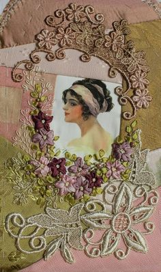 crazy quilting & ribbon embroidery