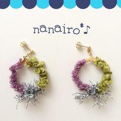 Diy Earrings, Crochet Earrings, Creema, Diy Jewelry, Tassels, Embroidery, Handmade, Design, Necklaces