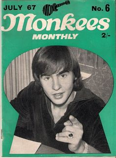 Monkees Monthly, July 1967  On the cover: Davy Jones