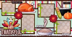 2 12x12 premade scrapbook pages. Adorable 3D art has been printed, hand cut, and made 3d with foam squares. ©A Bowl Full of Cherries Scrapbooking Designs. | eBay!