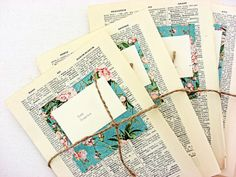 Escort cards, place cards, 80, vintage book pages, rustic weddings