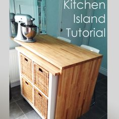 Nice idea for a tiny house kitchen. Allowing you to expand your work space by adding removable cabinets on casters under your counters.