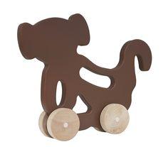 Manny and Simon Push Toy - Brown Monkey