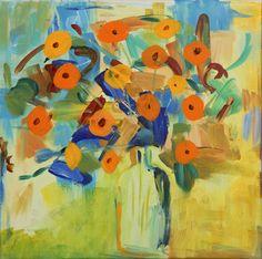 "Saatchi Online Artist Farida Zaman; Painting, ""Tangerine Still Life"" #art"