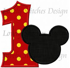 Hey, I found this really awesome Etsy listing at https://www.etsy.com/listing/212842969/mickey-mouse-number-1-applique-machine