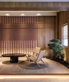 Simple, modern and respectful interior in a private dining and lounge created by red design, a Shanghai-headquartered design practice since . Japanese Spa, Japanese Wall, Japanese Modern, Japanese House, Japanese Style, Japanese Restaurant Design, Japanese Interior Design, Japanese Design, Lounge Design