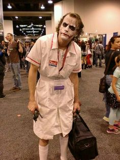 Absolutely perfect Joker cosplay.