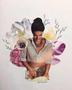anthropologie flower collage by kate rabbit - No. 32/100