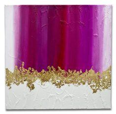 Esta é uma pintura feita pela artista Mel Gama.  Gradiente em tons de rosa pink, magenta e folhas de ouro. Peça bem moderna e posso fazer uma pintura semelhante em outros tamanhos a combinar. TÍTULO: Pink DIMENSÕES: 50 x 50 x 3cm (Tela em 3D) MÉDIUM: Acrílico em tela  As laterais também são pintadas e chegarão prontos para exibição.  A simulação da decoração pode não estar com escala correta - é somente para se ter uma ideia.  Todas minhas pinturas são originais. São criados por mim a partir…