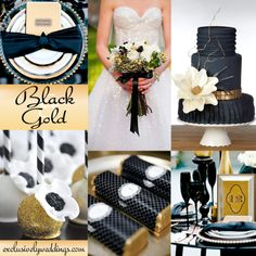 "Black and Gold Wedding | ""Add Glamour to Your Wedding With Gold"" 
