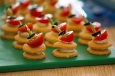 The shortbread on these canapes is melt in the mouth!