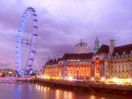 london eye, london england
