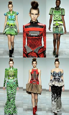 God, I love Mary Katrantzou's clothes. Who else could incorporate a typewriter into a dress print and make it look so badass. Mary Katrantzou Fall 2012.