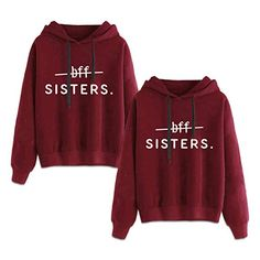 Best Friends Hoodies for 2 Girls BFF Jumper Matching Sweaters for Bestfriends -- You can get more details by clicking on the image. (This is an affiliate link) Best Friend Matching Shirts, Best Friend T Shirts, Matching Hoodies, Bff Shirts, Best Friend Outfits, Best Friends, Matching Sweaters, Best Friend Clothes, Friends Girls