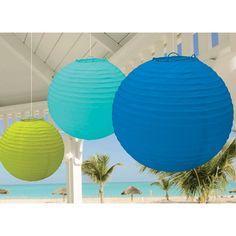 Hanging Lanterns - Cool Colors