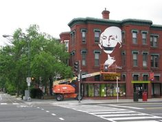 "street art in D.C. by Aniekan Oudofia and Liz Brown (2011) - ""Gagged Washington"""