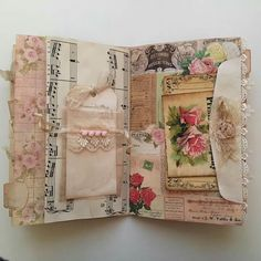 shabby junk journal page Junk Journal, Album Journal, Journal Paper, Scrapbook Journal, Journal Covers, Art Journal Pages, Bullet Journal, Notebook Covers, Kunstjournal Inspiration