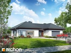 gotowy projekt Dom w kliwiach Townhouse, House Plans, Sweet Home, Patio, Outdoor Decor, Home Decor, Houses, Projects, Blueprints For Homes