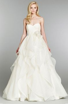 Bridal Gowns: Hayley Paige Princess/Ball Gown Wedding Dress with Sweetheart Neckline and Natural Waist Waistline
