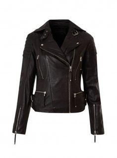 handmade women black Leather Jacket, women black biker Leather Jacket front pockets and belted collar