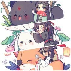 Scum Villain's self Saving system x Mo dao zu shi x Heaven official's blessings Anime Chibi, Manga Anime, Anime Art, Web Comics, Novel Characters, Cute Chibi, Light Novel, The Villain, Fujoshi