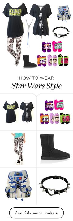 """""""Star Wars"""" by maddywesaley on Polyvore featuring UGG Australia and R2"""