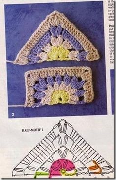 FREE DIAGRAM ~ Crochet granny square pattern for the beginner