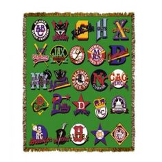 Negro League Baseball Logos Tapestry