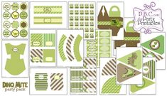 DINO MITE PARTY PACK  free to download party printables from www.pregnacybabychild.com