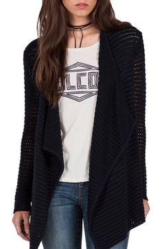Volcom Hold on Tight Open Cardigan available at #Nordstrom