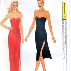 1970s Vogue 7371 Misses Sexy Strapless Sweetheart Neck Pullover Evening Dress for Stratch Knits Pattern womens vintage sewing pattern | PatternGate - Craft Supplies on ArtFire