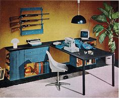 gun rack in sewing room - this is great,  but I don't think the girls are ready for that.