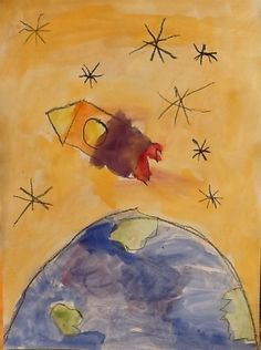 Thema ruimte kleuters | Juf Anke - lesidee en thema kleuters Space Activities For Kids, Preschool Activities, Buzz Lightyear, Outer Space Theme, Out Of This World, Creative Kids, Crafts To Do, In Kindergarten, Art Education