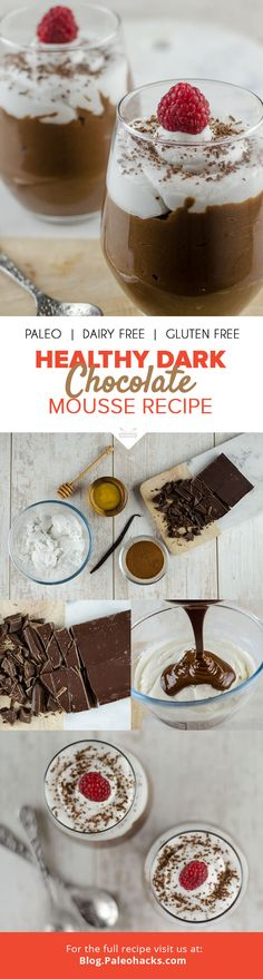 Meet the creamiest, richest mousse you've ever tasted. This dark chocolate mousse recipe is dairy-free and packed with antioxidants to keep this Paleo dessert deliciously healthy. For the full recipe, visit us here: http://paleo.co/chocmoussercp