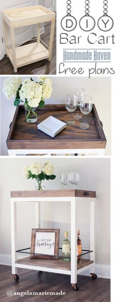 DIY Bar Cart - Free Woodworking Plans – HandmadeHaven