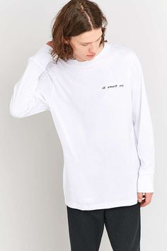Cheap Monday It Wasnt Me Long Sleeve T-shirt - Urban Outfitters