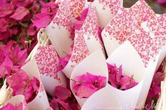 bougainvillea wedding - flower toss
