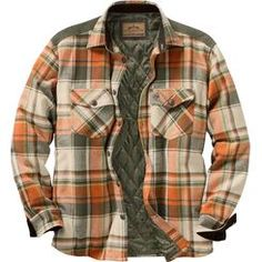With the first chill in the air you'll be reaching for this classic plaid heavyweight insulated flannel with real chamois piecing.  Features a quilted insulated lining for added warmth and comfort, buttoned chest pockets, handy side seam hand warming pockets, and embroidered Signature Buck.