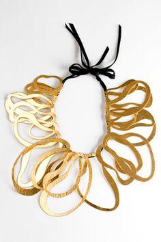 """""""Wave Collar Necklace"""" by Herve van der Straeten."""