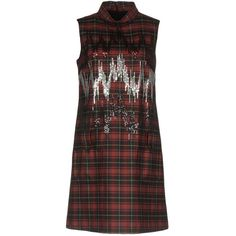 Giamba Short Dress ($472) ❤ liked on Polyvore featuring dresses, red, short red dress, sequined dress, sleeveless dress, red zipper dress and sequin mini dress