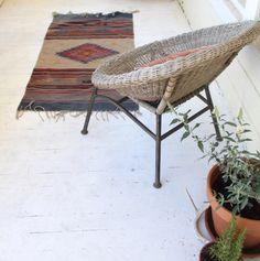 Vintage Bold Handwoven Southwestern Navajo Style Runner Rug