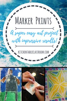 Marker prints are easy and the kids think they are magical. Chances are you have the supplies, little prep work is required, and the results are awesome!