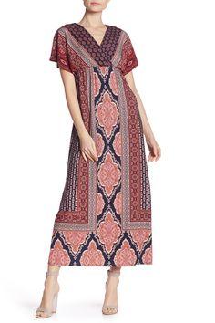 Matte Jersey Printed Dolman Sleeve Dress by London Times on Gipsy Fashion, Boho Fashion Fall, Boho Festival Fashion, Gypsy Dresses, Boho Dress, Mode Boho, Short Sleeve Dresses, Dresses With Sleeves, Boho Outfits