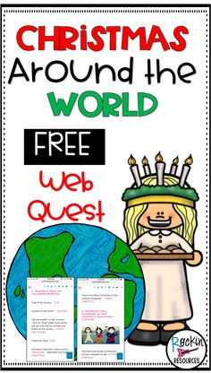 This is a FREE Christmas Around the World Research Project- Web Quest. Use this blog post to research countries to discover their culture and how they celebrate the holidays! Students will learn about food, traditions, map location, flag, and how that country says Merry Christmas!  Students will be engaged and excited to learn about other holiday traditions!