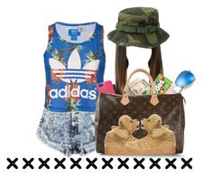 """Adidas."" by prvncessbeautifulmee ❤ liked on Polyvore featuring adidas, Ray-Ban, Eos, Givenchy, Kate Spade, Louis Vuitton and adidas Originals"