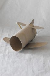 Second Grade Recycled Crafts Activities: Cardboard Airplane