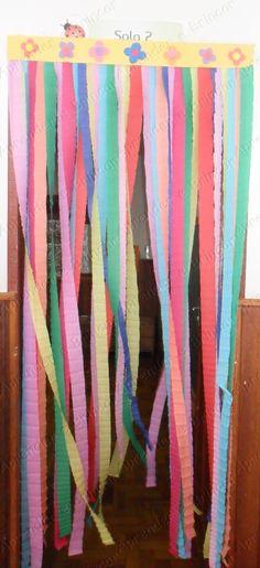 Cortina de papel crepé para decoración en fiestas infantiles ...