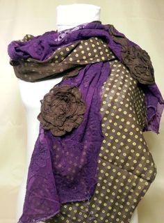 Purple Lace Scarf by PeraTime on Etsy, $8.90 #handmadeatamazon #nazodesign